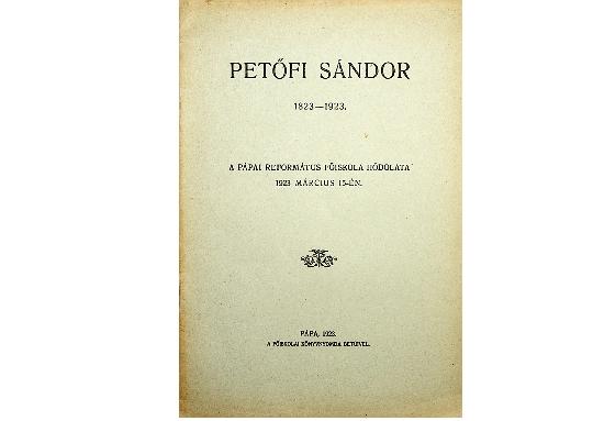 Petőfi Sándor 1823-1923.  (1923)