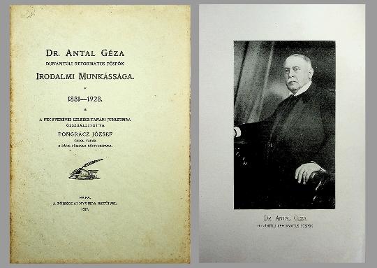 Pongrátz József: Dr. Antal Géza irodalmi munkássága 1881-1928 (1929)
